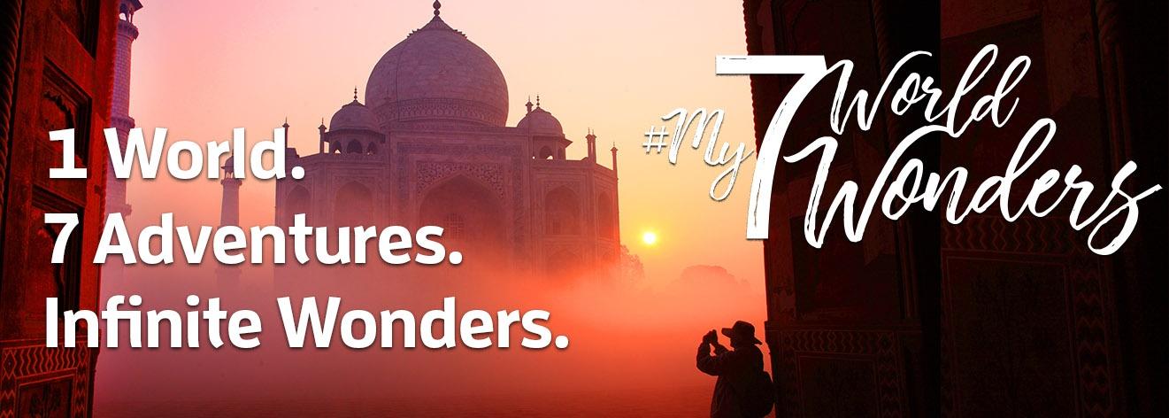 1 World. 7 Adventures. Infinite Wonders.